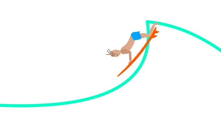 Cause of surfing takeoff failure(8)-Because you misunderstand that takeoff is a steep fall.